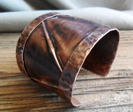 Custom Made Solid Copper Folded Cuff Bracelet