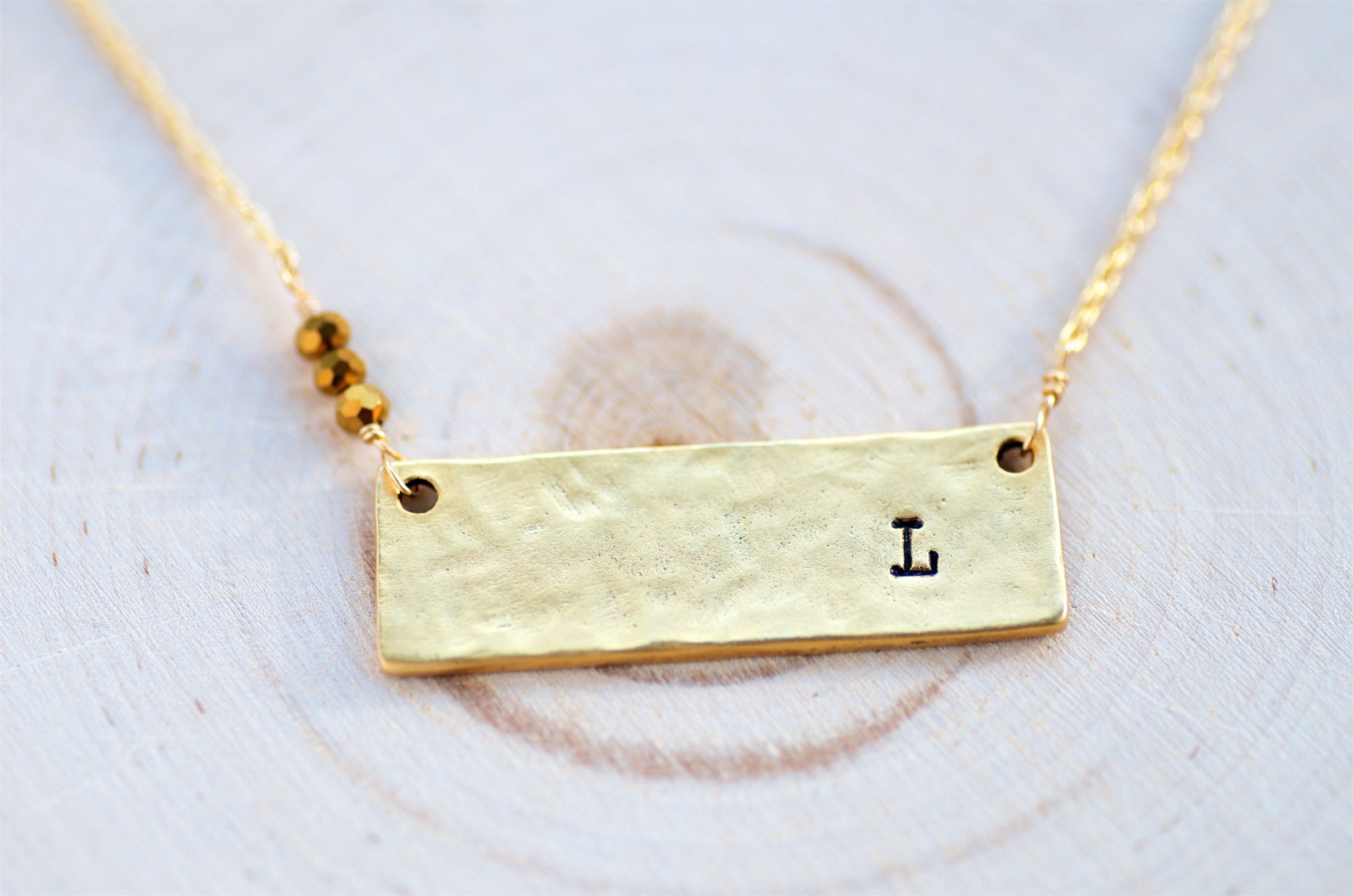 Buy a custom made personalized gold bar necklace made to order from custom made personalized gold bar necklace aloadofball Gallery