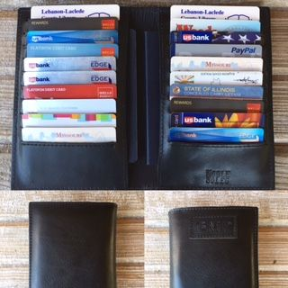 Custom Made Black Or Brown Men's Women's Leather Passport Travelers Wallet