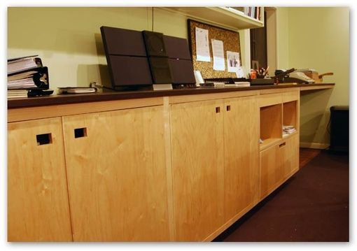 Custom Made Office Cabinets And Wenge Countertop