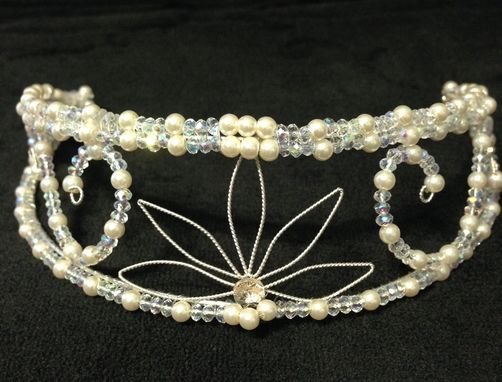 Custom Made L'Adore Opals Crystal And Pearl Tiara