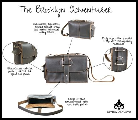 Custom Made Brooklyn Voyager Leather Briefcase And Travel Bag