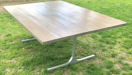Custom Made Century Od Reclaimed Tabletop, Featuring Hand Welded Legs