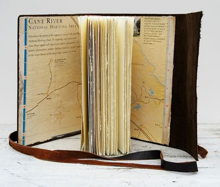 Custom Made Leather Bound Handmade Journal Cane River Louisiana Creole Travel Diary Art Notebook  (119)