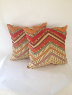 Custom Made Native Print Linen Pillow Cover