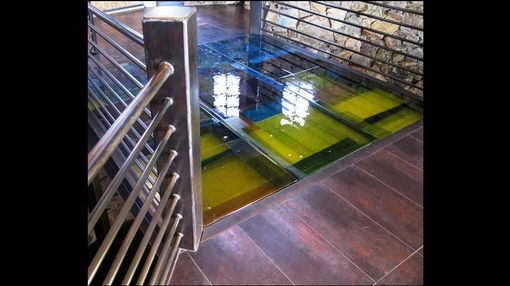 Custom Made Cast Glass Floors