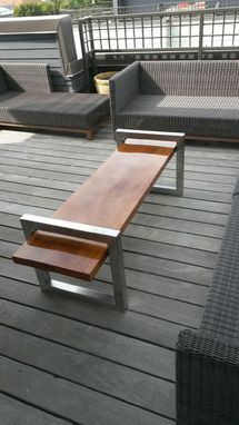 Custom Made Solid Slab Teak Coffee Table