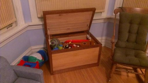 Custom Made Oak Toy Chest