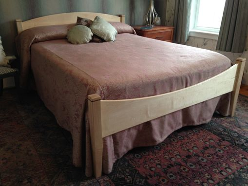 Custom Made Moon Bed Shaker Inspired Queen Size In Solid Maple