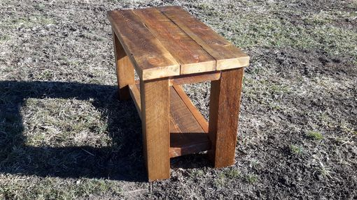Custom Made Reclaimed Rustic Barnwood Coffee Table. Made In Montana