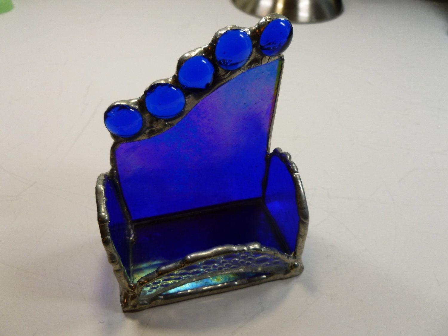 Hand Crafted Custom Stained Glass Business Card Holder In ...