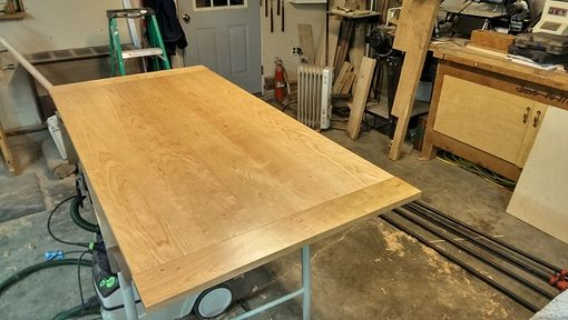 Custom Made Cherry Trestle Table - Featured In Woodcraft Magazine