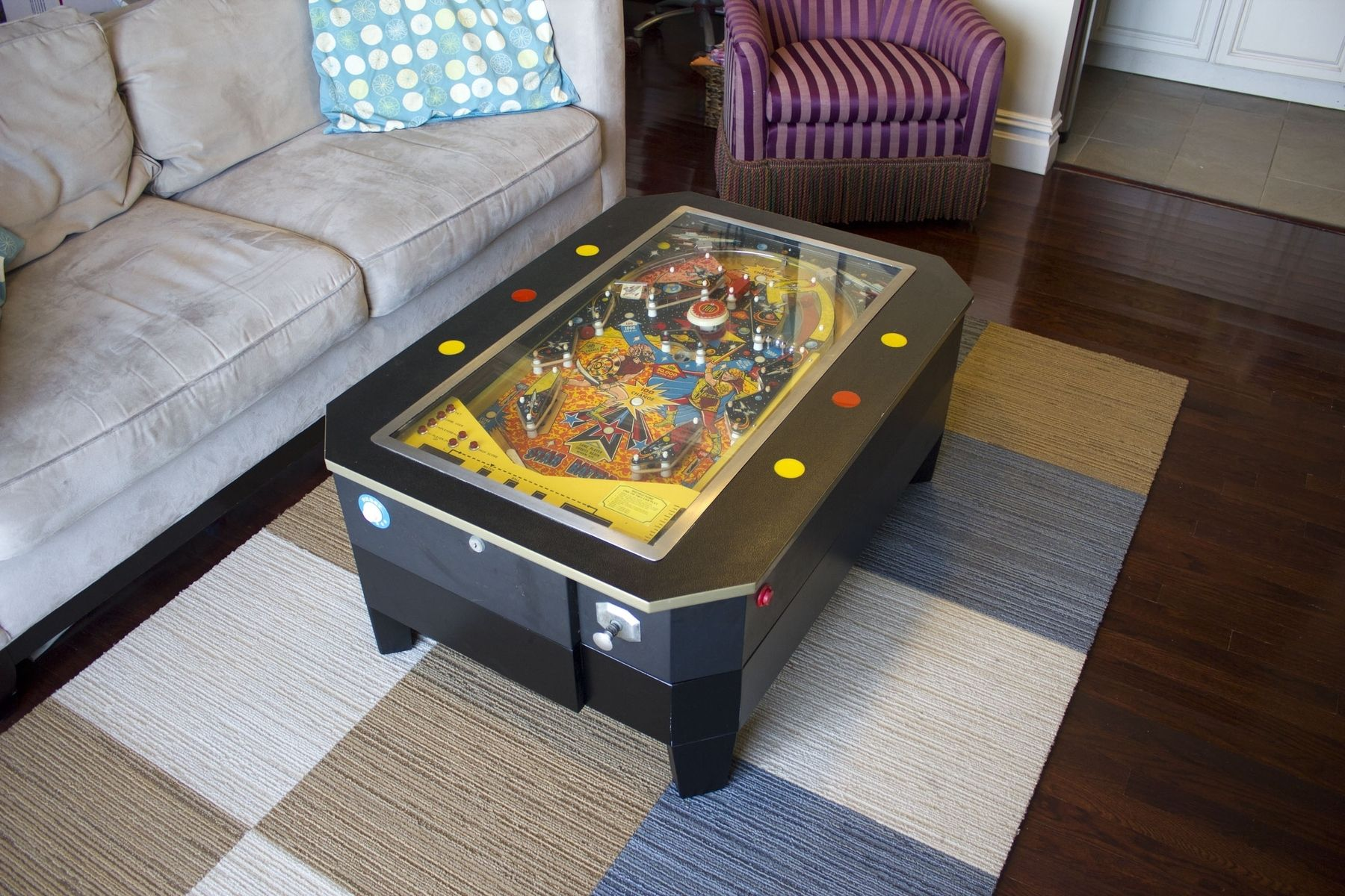 handmade pinball coffee table by wooden it be nice. Black Bedroom Furniture Sets. Home Design Ideas