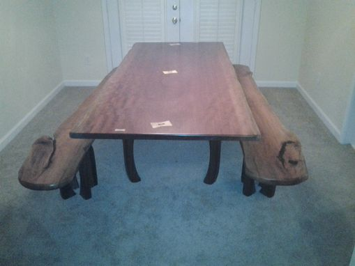 Custom Made Dining Table And Benches