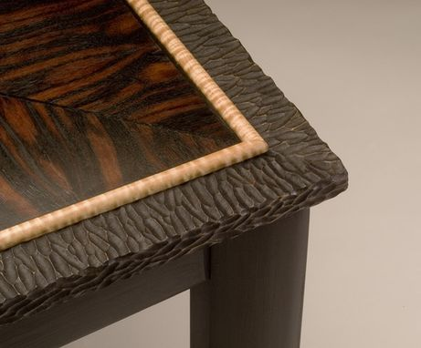 Custom Made Macassar Ebony Side Table