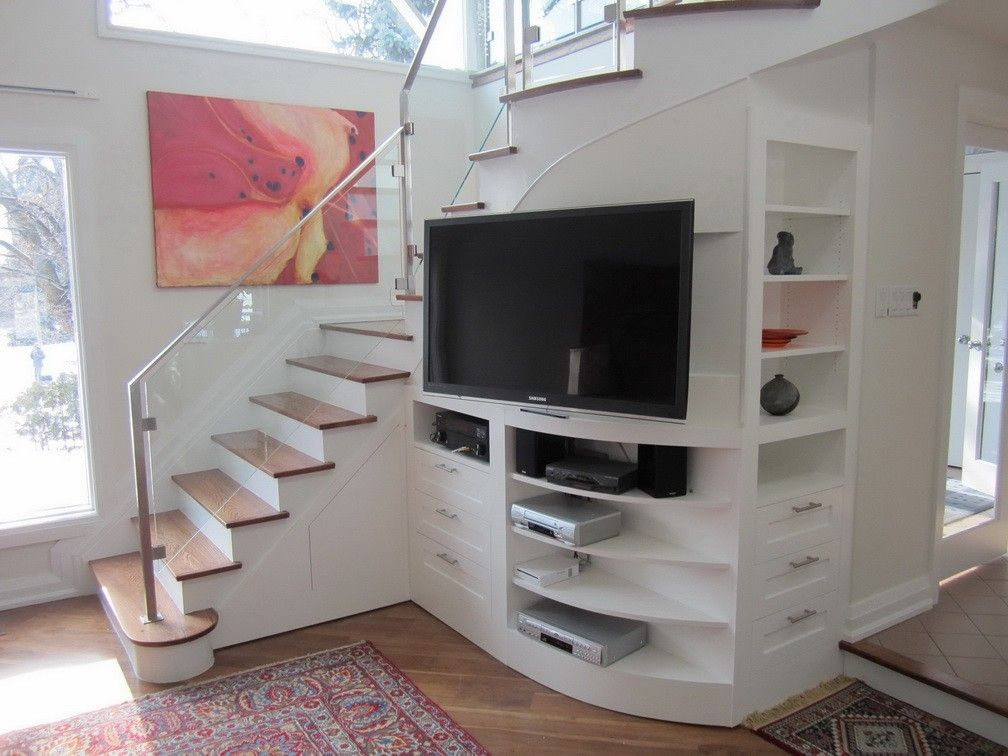 Custom Under Stair Entertainment Center By Lipa Woodwork