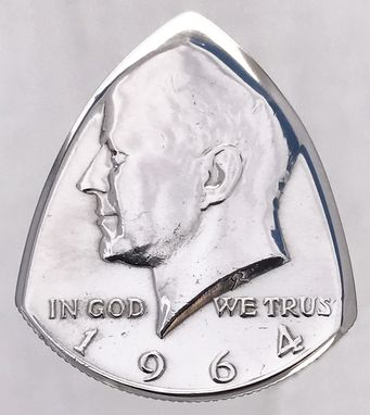 Custom Made Coin Guitar Picks-Silver