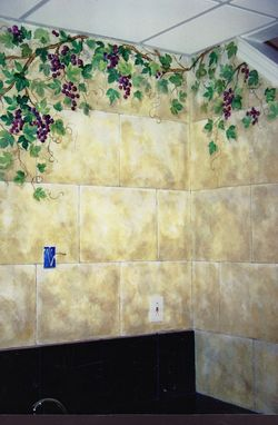 Custom Made Painted Stone Tiles, Faux Finish