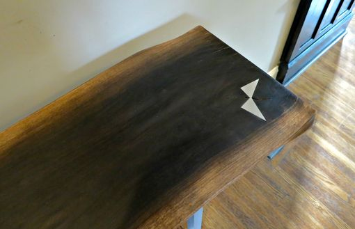 Custom Made Ebonized Walnut And Aluminum Hall Table