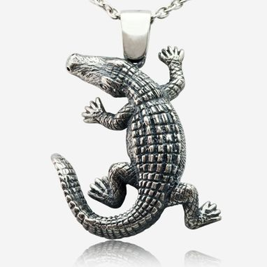 Custom Made True Crocodile Pendant