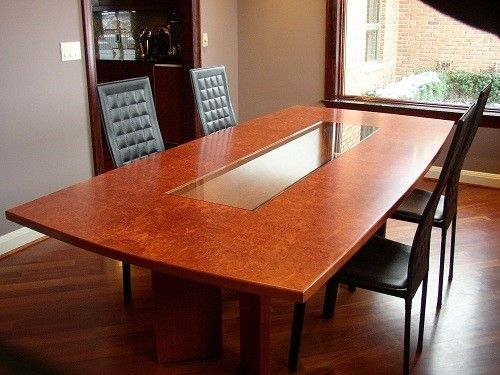 Hand Crafted Burlwood Dining Table by Mark Wilson Furniture ...