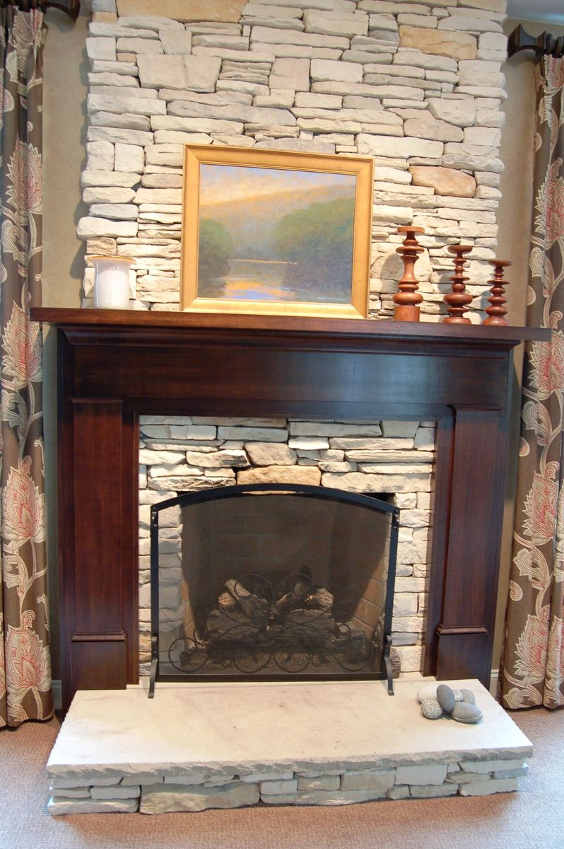 Custom craftsman fireplace surround by nh accents fine for Craftsman fireplaces photos
