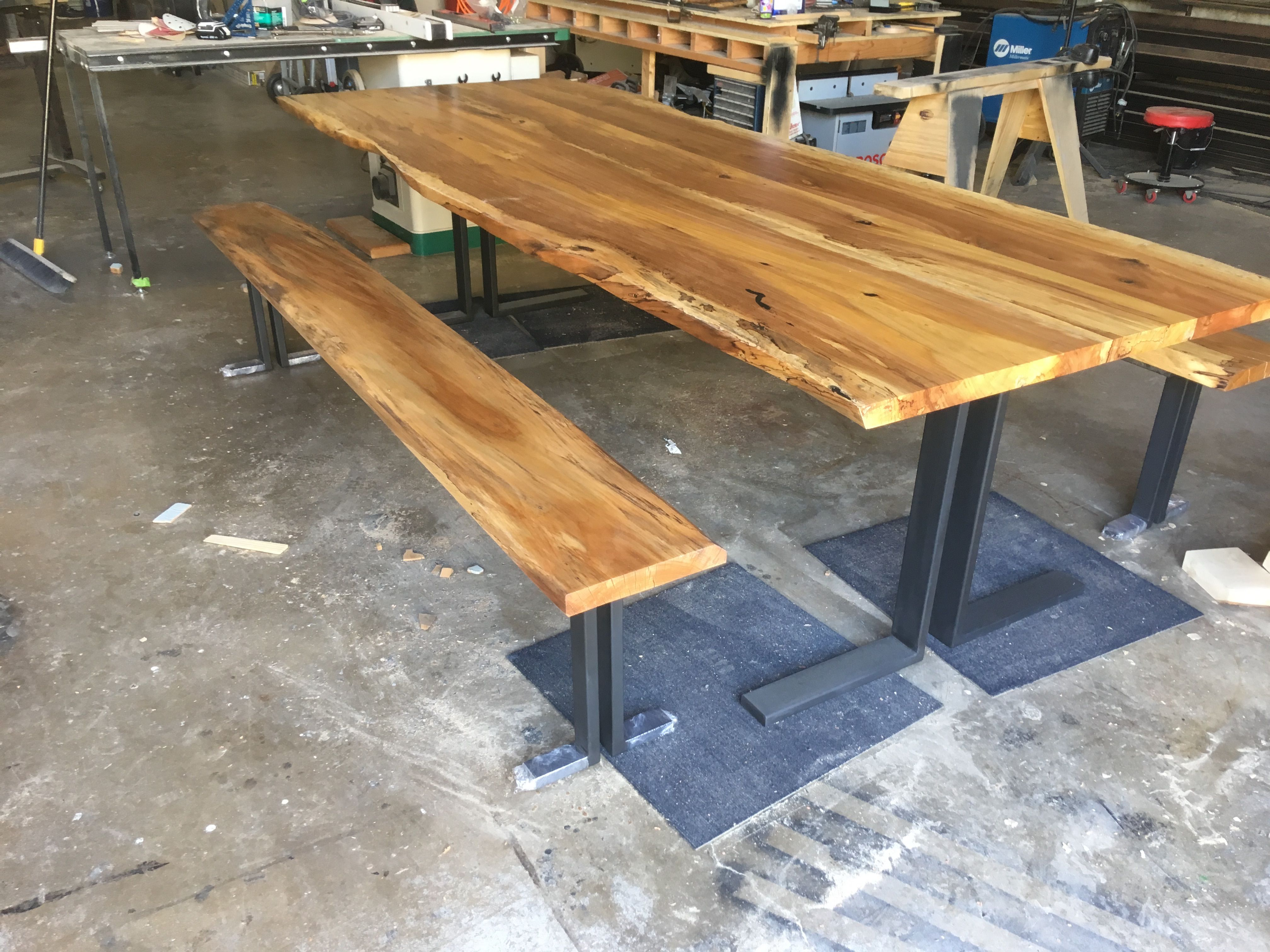 Buy A Hand Crafted Live Edge Pecan Dining Table Farm Table Made