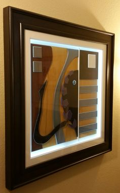 "Custom Made 36x36"" Led Lit All Wood Abstract Art"
