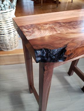 Custom Made Custom Walnut End Table