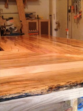Custom Made Solid Ambrosia (Wormy) Maple Bar / Counter Top