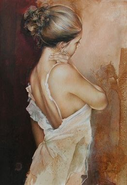 Custom Made Figurative Fine Art, Painting, Fine Art