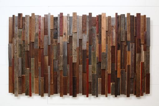 Custom Made Reclaimed Wood Wall Art 68x40x2.5