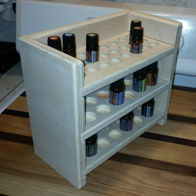 Custom Made Essential Oils Display Shelf W/Removable Shelves