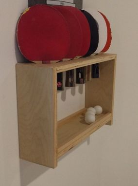 Custom Made Ping Pong Paddle And Ball Holder