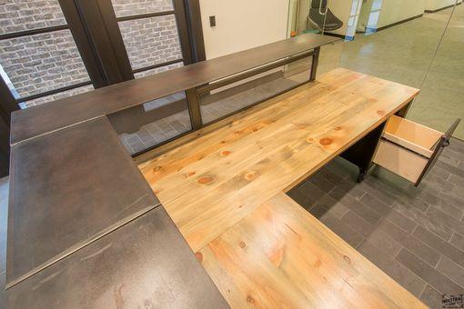 Handmade Custom L Shaped Reception Desk Metal Amp Wood