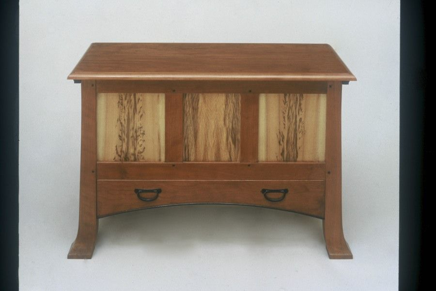 Handmade arts and crafts style blanket chest with cedar for Arts and crafts furniture makers