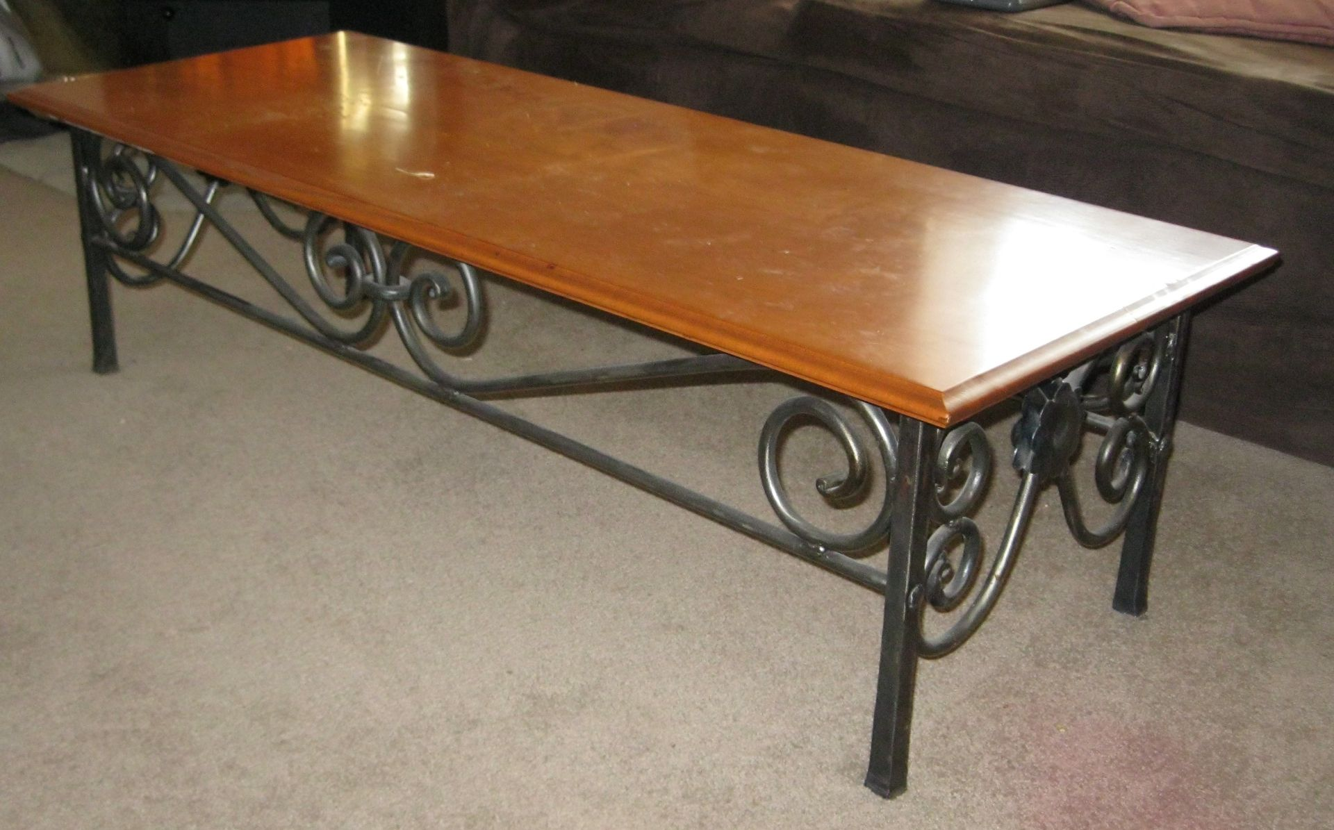 Custom Made Wrought Iron Coffee Table