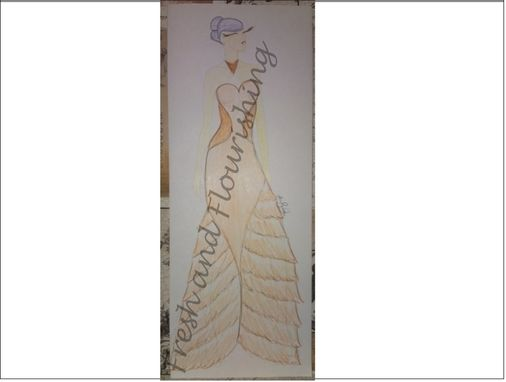 Custom Made Original Design - Floor Length Evening Gown-Trumpet Skirt