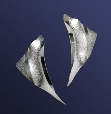 "Custom Made Sterling ""Arc"" Earrings"