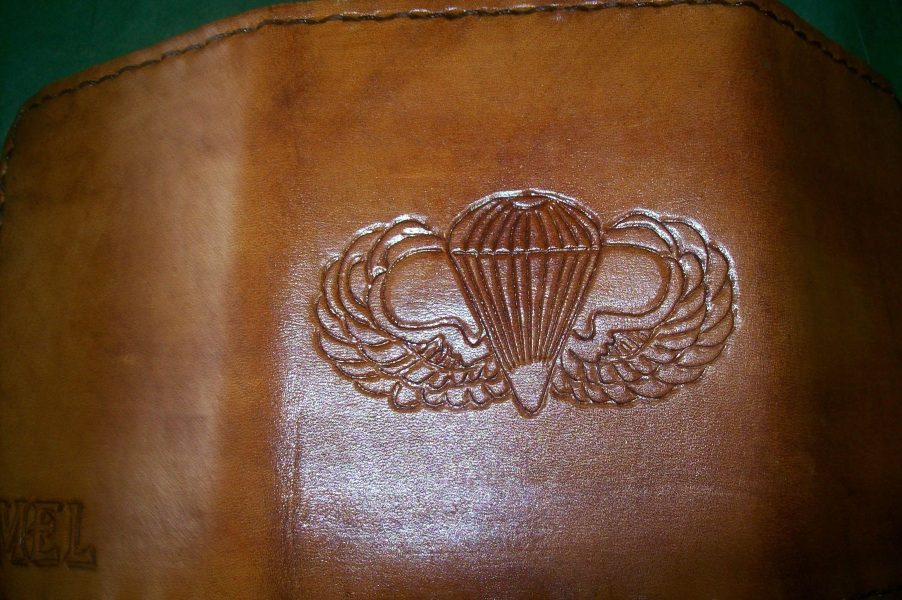 3413a0389d6a9 Buy a Hand Made Custom Leather Wallet With Air Force Wings And ...