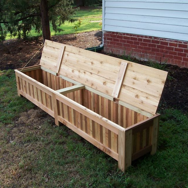 Hand Made Custom Western Red Cedar Patio Storage Bench By Grant Kistler Designs Custommade Com