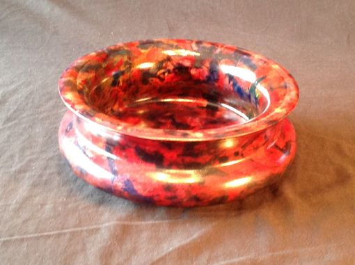 Custom Made Nine And Three Quarter Inch Maple Bowl With Hand Applied Colors