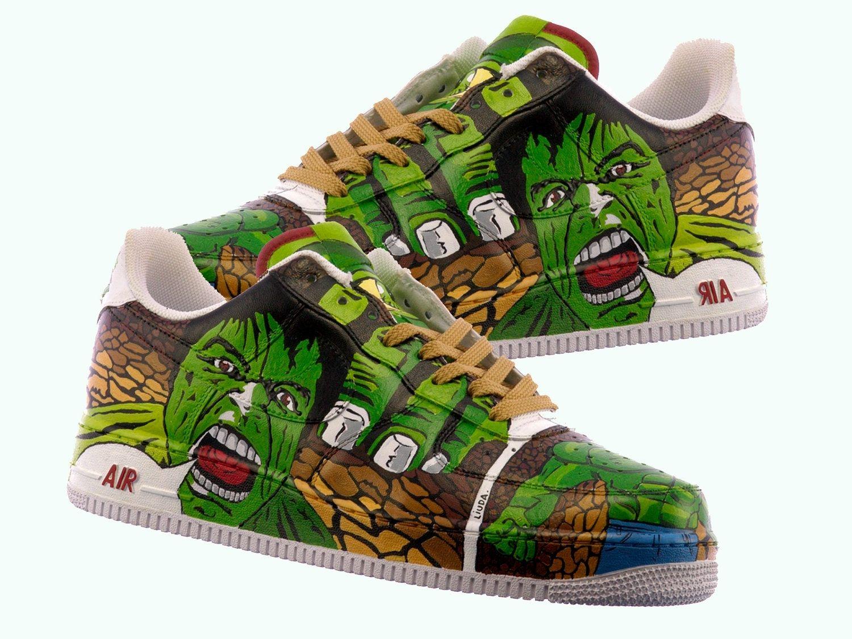 051f37459eff Custom Made Hulk Hand Painted Shoes  Comic Shoes Incredible Hulk Shoes