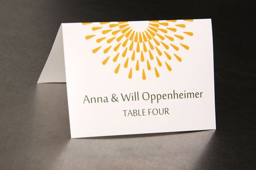 Custom Made Wedding Place Cards - Circle Rain - Escort Cards Favor Tags Custom Designed