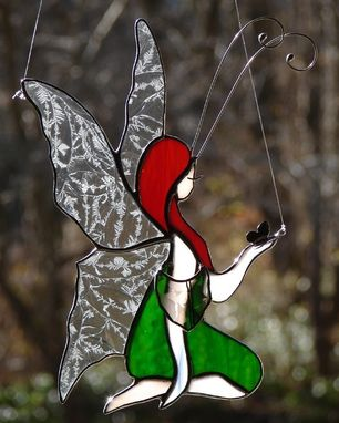 Custom Made Kneeling Fairy, Ready To Ship
