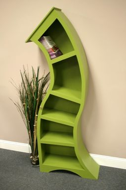 Custom Made 6ft Curved Bookshelf