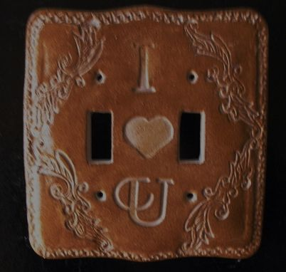 Custom Made Handmade Personalized Switchplates,Hand Painted,Victorian Design,Unique.