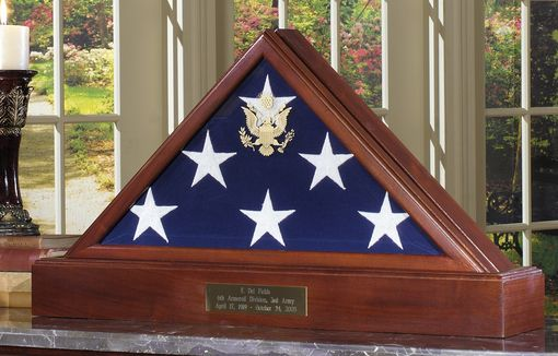 Custom Made American Flag Case Pedestal For 5 X 9.5 Flag - Burial Flag