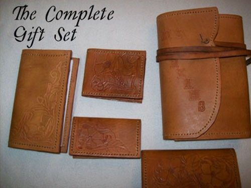 Custom Made Custom Leather Complete Gift Set