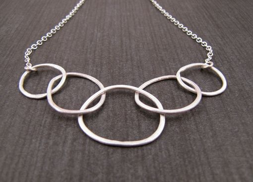 Custom Made Silver Circle Link Necklace | Essential Everyday Jewelry